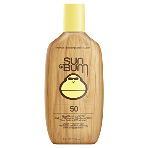 Sun Bum Moisturizing Sunscreen Lotion, SPF 15-70, 8oz Bottle, Oil Free, Hypoallergenic