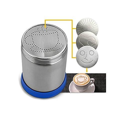 FunnyTod365 Cappuccino - Juego de plantillas para café y café (incluye dispensador de polvo de