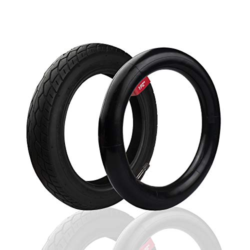 1PZ ER5-T01 12.5 x 2.25 Inner Tube and 12.5'' x 1.75/2.15 Front Wheel for Bob Revolution Se/Pro/Flex Jogging and Duallie Stroller Replacement Bob Front Wheel
