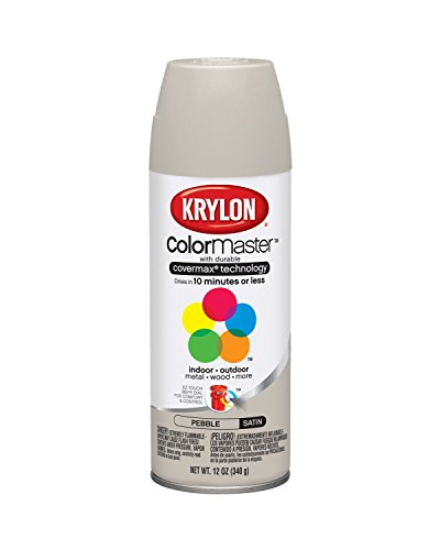 Krylon K05352007 Pebble 'Satin Touch' Decorator Spray Paint - 12 oz. Aerosol by Krylon