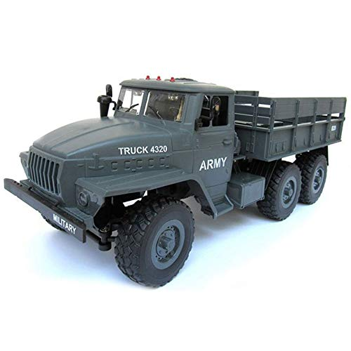 (Nrpfell RC Truck 1: 12 Simulation Full-Size 6wheel Drive Soviet Ural Truck Model Off-Road Remote Control Car VS WPL B-16 Q60)