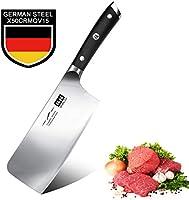 SHAN ZU Santokumesser, 18 cm Edelstahl Japanisches Santoku Kochmesser Küchenmesser Messer Sehr Scharfe…