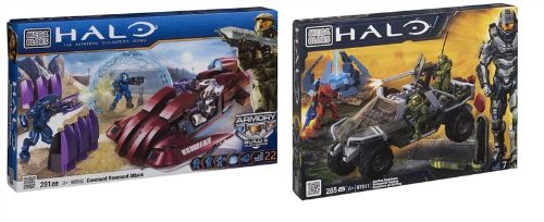 Halo 2 Warthog - Mega Bloks HALO BUNDLE - Halo Covenant Revenant Attack & Halo Warthog Resistance 97011 - 2 ITEMS (Dispatched from UK)