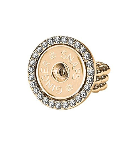 Ginger Snap (Simulated) Gold Stretch Bling Ring SN95-73 (Standard Size) Interchangeable Jewelry -