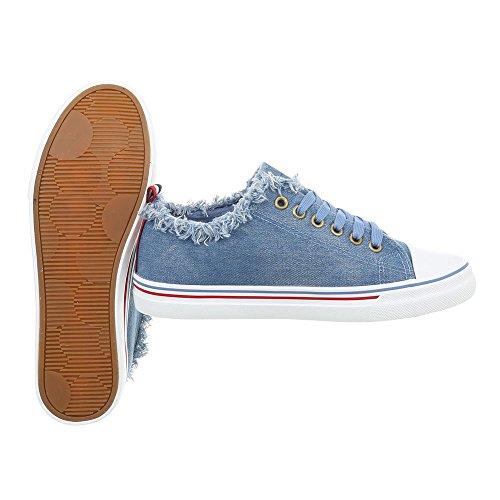 Scarpe 562 donna Design da Xy Ital piatto Blu Sneaker low Sneakers Pwx5cqv