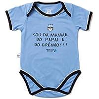 Rêve D'or Sport - Body Sou da Mamãe Grêmio Unissex, M, Branco/Azul