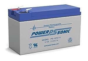 Powersonic PS-1270F1 12V / 7 Amp Sealed lead acid Battery