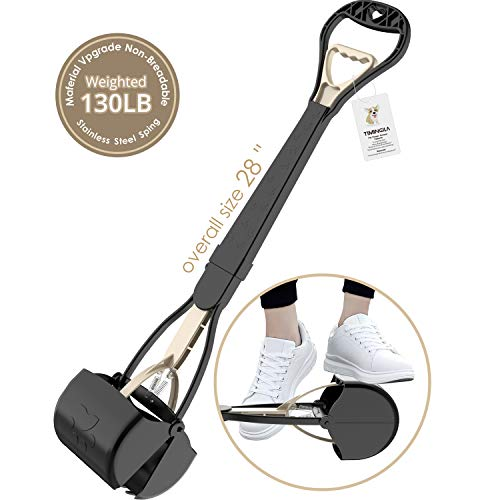 """TIMINGILA 28"""" Long Handle Pet Pooper Scooper for Dogs and Cats with High Strength Material and Durable Spring Easy to Use for Grass, Dirt, Gravel Pick Up (Apricot) from TIMINGILA"""