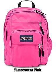 JanSport Big Student Solid Colors Backpack B1025: Fluorescent Pink