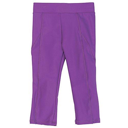 Purple Baby Girl Swim Capris with UPF50 Sun Protection by Sun Smarties, 12 Month ()