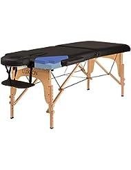 Luxton Home Premium Memory Foam Massage Table - Easy Set Up - Foldable & Portable