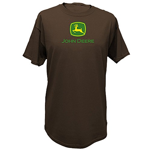 John Deere Men's Trademark Logo Core Brown Short Sleeve Tee-Small