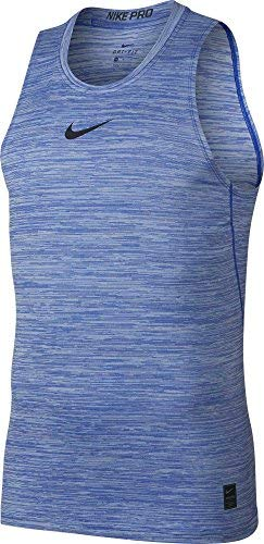 NIKE Mens Pro Fitted Compression Tank Top (Hyper Royal/Black, ()