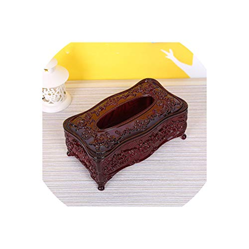 Case-Care-Store Tissue Box Table Napkin Holder Napkin Box Wipes Container,Imitation Rosewood