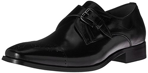 (STACY ADAMS Men's Kimball-Cap Toe Monk Strap Slip-On Loafer Black 9 M US)