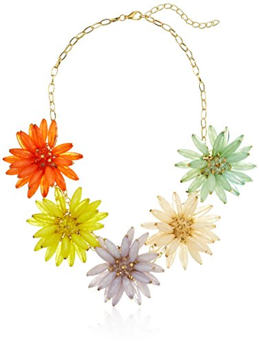 Amazon Collection Flower Statement Necklace