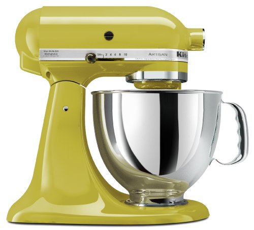 - KitchenAid KSM150PSPE Artisan Series 5-Qt. Stand Mixer with Pouring Shield - Pear