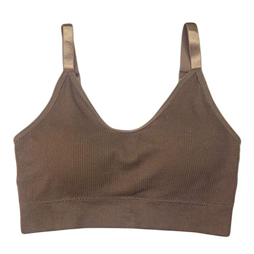 Keliay Womens Tops for Summer,Women's Jacket Yoga Running Healthy Pure-Colored Vest Steel Ring Tops