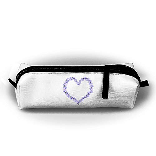 Pen Case Heart Shaped Pencil Pouch Box Students Stationery Organizer Holder Cosmetic Zipper Bag Coins (Personalized Heart Shaped Pen)