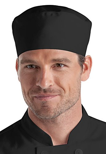 Black Professional Chef Skull Cap (One Size Fits -