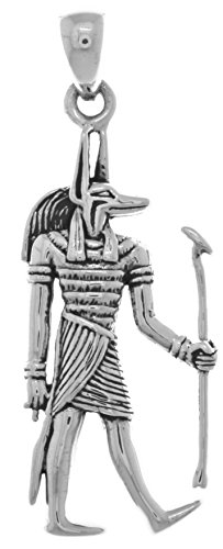 Jewelry Trends Anubis Egyptian God of The Underworld Sterling Silver Pendant
