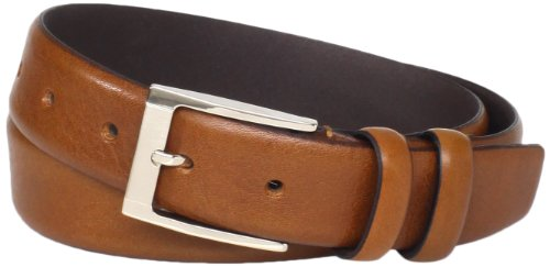 ian Full Grain Leather Feather Edge 32MM, Cognac, 38 (Belt Cognac)