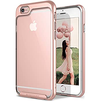 Caseology Skyfall Series iPhone 6S Cover Case with Clear Slim Protective for Apple iPhone 6S (2015) / iPhone 6 (2014) - Rose Gold