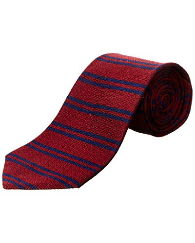 Brooks Brothers Mens Burgundy Horizontal Stripe Silk Tie, Os Brooks Brothers Silk Tie
