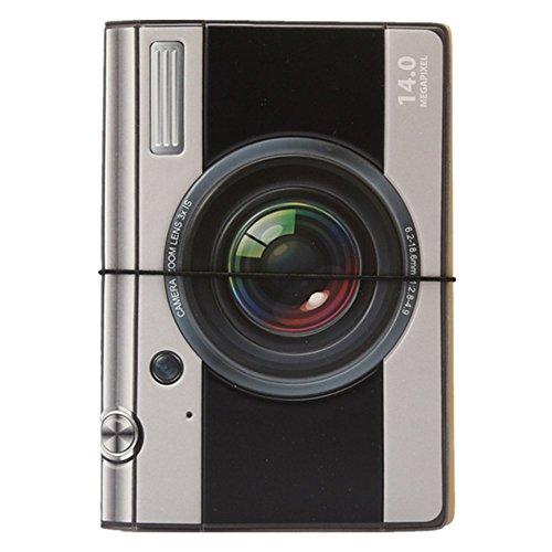 Price comparison product image WODEJIAYUAN 3D Camera PU Leather Passport Cover Holder Pockets ID Bag Cards Folder