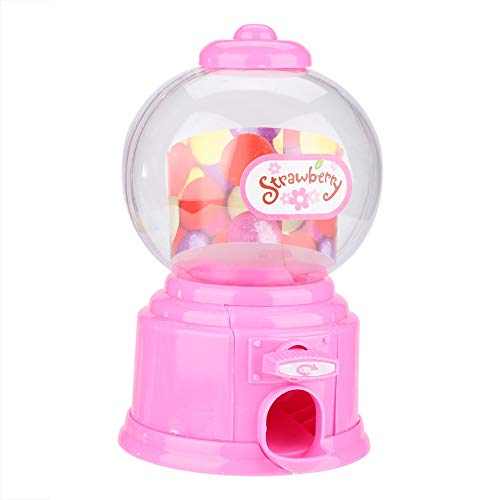 - Fdit Portable Children Candy Machine Plastic Mini Gumballs Dispenser Kids Kindergarten Gift(Pink)