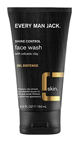 Every Man Jack Shine Control Face Wash Oil Defense, 5 Ounce