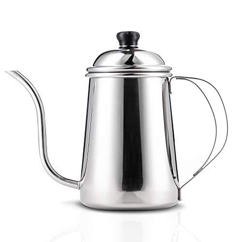Yama Glass YAMA25 YAMA Pour Stainless Steel Gooseneck Kettle 24 oz, - Goose Pot
