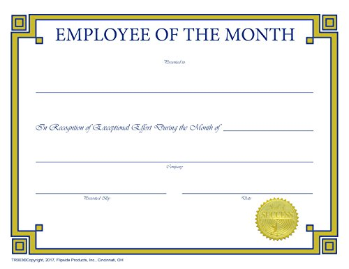 (Employee of The Month Certificate - Traditional Series Matte Paper - Quantity 150)