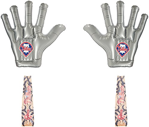 MLB Oakland Athletics ThunderHands/Authentic Tattoo Combo Pack with Jumbo Inflatable Fan Hands and Tattoo Sleeves
