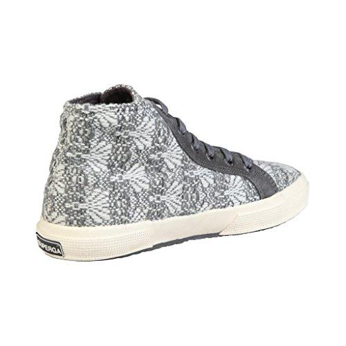 ... Superga Damen Heritage Hohe Sneaker Grau / Weiß ...