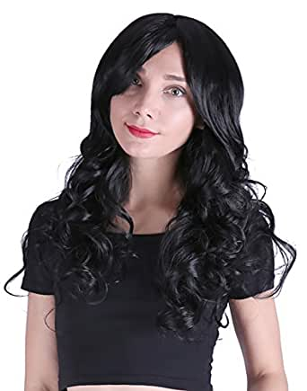 HDE Women's Long Wavy Wig 24 inch Curly Glamour Hair for Halloween Cosplay Costumes