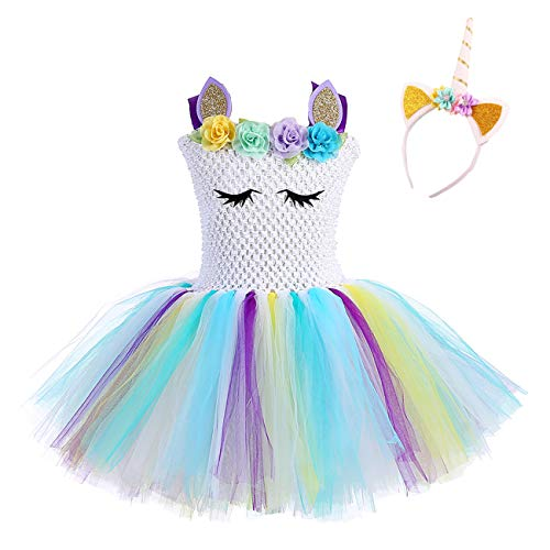 Fancy Girls Unicorn Tutus Dress Fluffy Costumes for Pageant Party]()