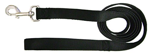 (Hamilton Single Thick Deluxe Nylon Lead with Swivel Snap, 5/8-Inch by 6-Feet, Black )