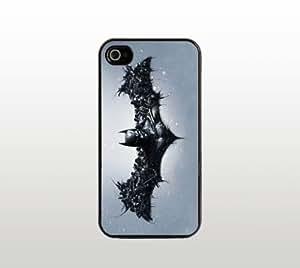 Creative Batman Logo iPhone 4 4s Case - Hard Plastic Snap-On Custom Cover - Black - Superhero