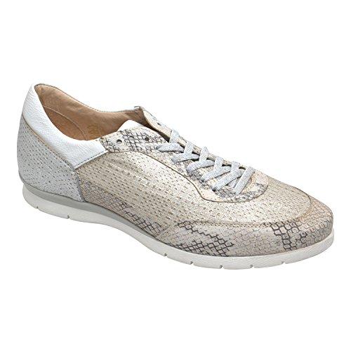 Sneaker Ladies Force - Di Mjus - Color Lino Iceberg Bianco Vera Pelle