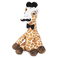 Fancy Giraffe Plush Stuffed Animals: Cute & Funny Small Plushie Toy Animal with Mustache, Monocle & Bowtie for Babies, Children or Adults - Party Gift or Bedtime Toys for Boys & Girls - 14 Inches Tall