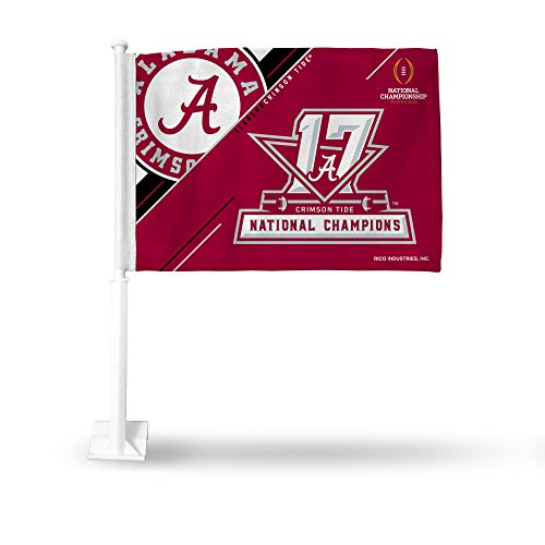 NCAA Alabama Crimson Tide 2017 CFP Champ Car Flag (Car Flag Alabama Tide Crimson)