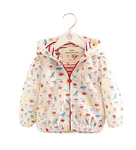 b3a8cb652fb85 フッカツ)女の子 長袖 花柄 ジップアップパーカー 子供服 ウィンドブレーカー キッズ ベビー