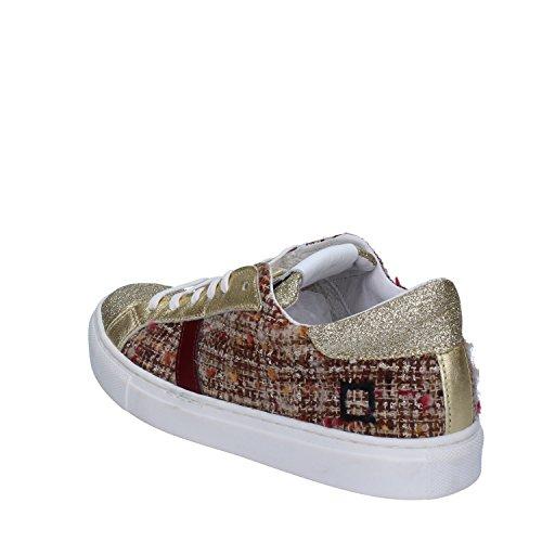 a 37 Eu D Glitter e Textil t Sneakers Mujer Date Borgoña Oro OwZwxY7
