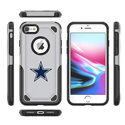 (Cowboys iPhone 6s Plus Tough Electroplate Case, 3 in 1 Ultra-thin Smooth Anti-Scratch PC Hard Back Case Full Cover for iPhone 6 Plus / iPhone 6s Plus-)