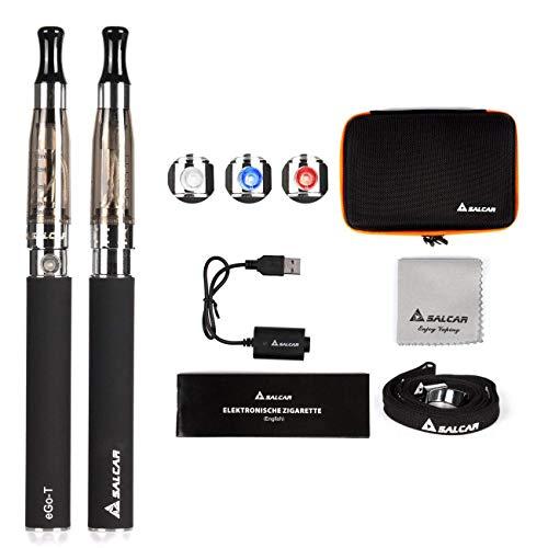 Salcar Elektronische Zigarette/ E Zigarette/ e Shisha Doppelset | 2 x Ego E Zigarette mit 1100mAh Akku E Shisha…