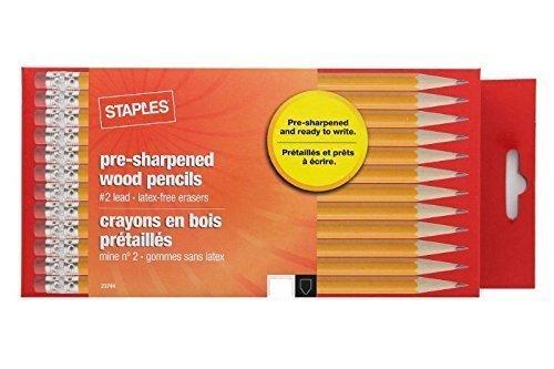Staples Pre Sharpened #2 Yellow Pencils (8 Dozen)