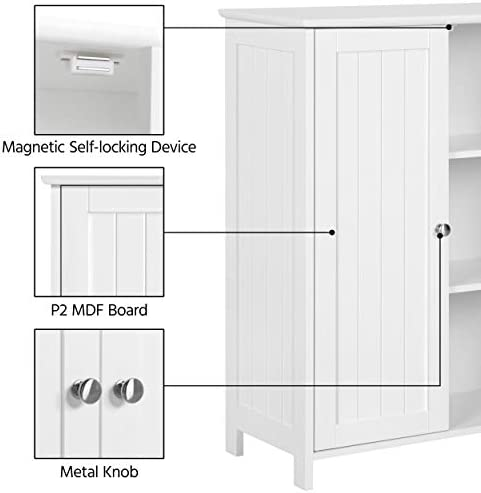 home, kitchen, furniture, bathroom furniture,  bathroom sets 10 image Yaheetech Bathroom Floor Storage Cabinet Space Saver Organizer deals