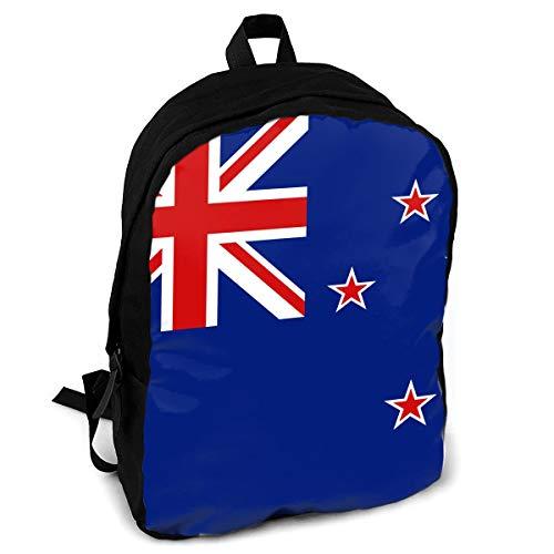 New File Zealand (FSXIK New Zealand Flag Boys Girls School Rucksack College Bookbag Lady Travel Backpack Laptop Bags)