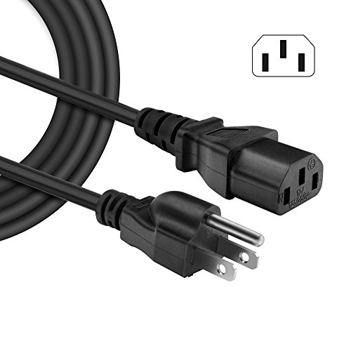IBERLS [UL Listed] Universal Power Cord AC Cable 3 Prong Plug 18 AWG for Computer / Monitor / Printer / Scanner / LCD Tv Plasma DLP / Ps3 / Xbox 360 etc (NEMA 5-15P to IEC320C13) (Monitor Lcd Ps3)